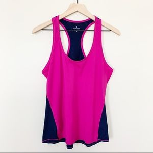 Athleta Chi Tank Top Colorblock Purple Berry Pink